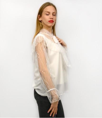 Блуза шифон с връзки