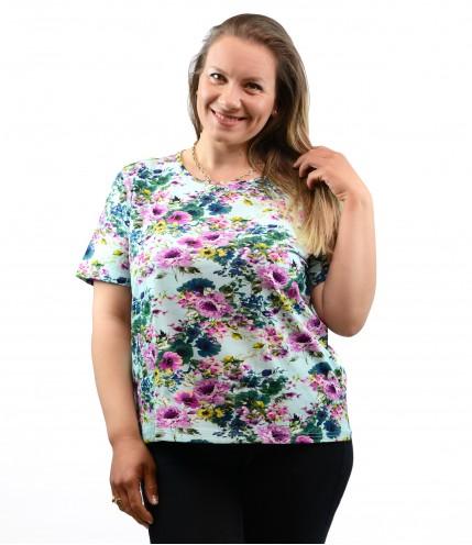 Дамска многоцветна блуза макси
