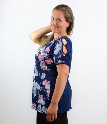 Макси блуза с отвори на рамото