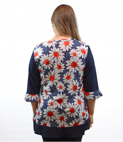 Дамска  елегантна блуза макси
