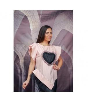 Уникална блуза със сърце