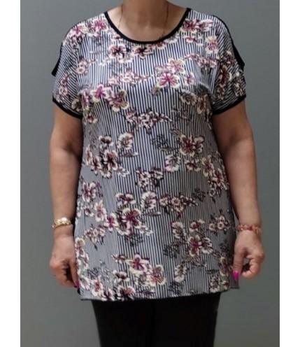 Красива дамска блуза с отвори на раменете