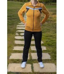 Дамски трицветен  спортен комплект българско производство
