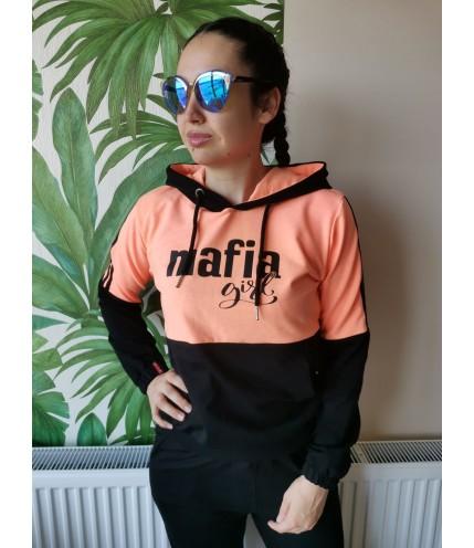 Двуцветен дамски комплект с качулка - MAFIA - Българско производство