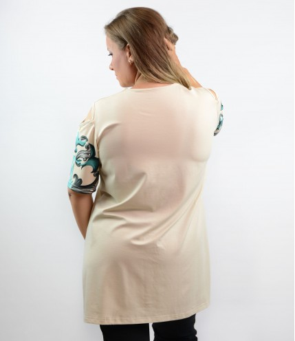 Макси туника с отворени рамене