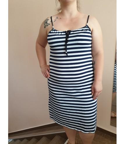 Макси рокля с тънки презрамки
