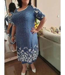 Красива макси рокля с ефектен принт