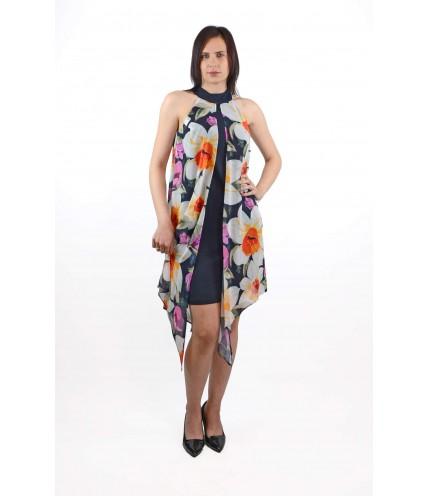 Елегантна рокля с шифон