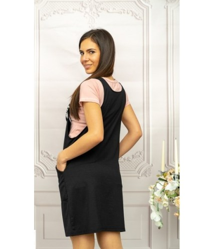 Дамски ефектен сукман с блузка