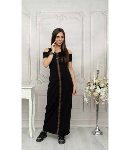 Ефектна дълга дамска рокля