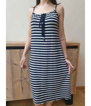 Дамска рокля с тънки презрамки