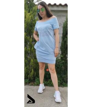 Спортно-елегантна дамска рокля