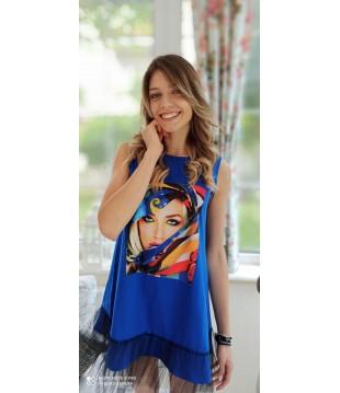 Уникална дамска рокля с тюл