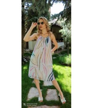 Къса уникална рокля от шифон