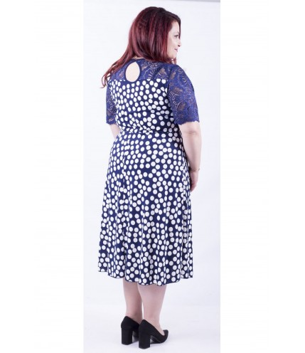 Перфектна дамска рокля с дантела 0109-1