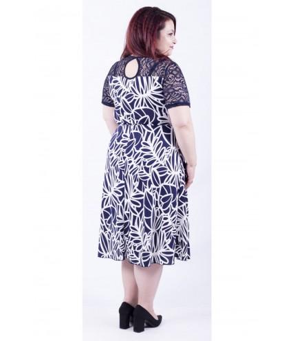 Перфектна дамска рокля с дантела 0109-2