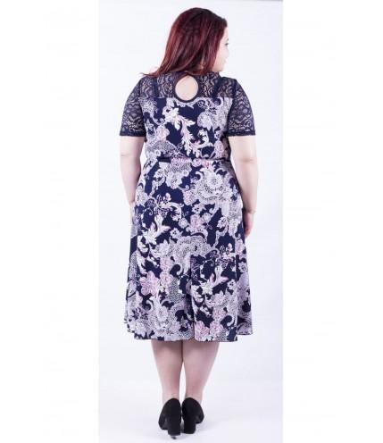 Перфектна дамска рокля с дантела 0109-3