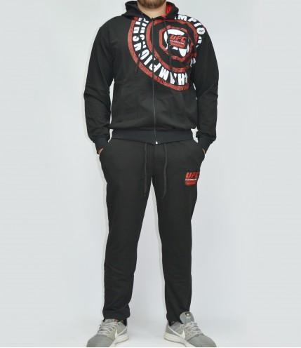 Мъжки Спортен комплект UFC Championship с качулка - Български