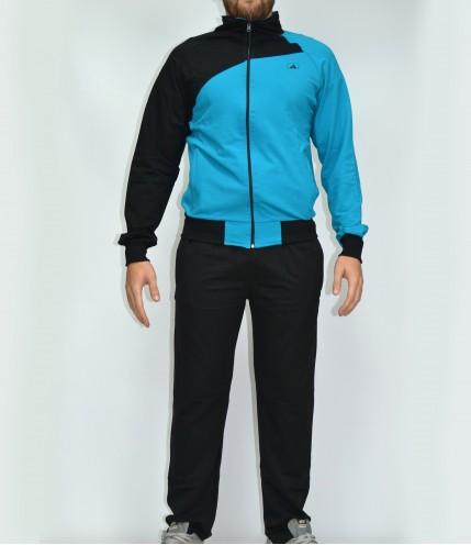Двуцветен мъжки спортен комплект без качулка - Български