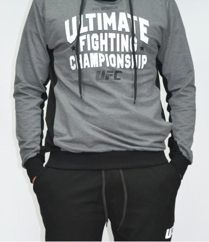 Мъжки спортен комплект UFC с цяло Горнище без цип българско производство