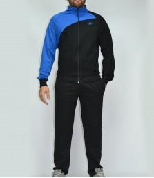 Двуцветен мъжки спортен комплект без качулка гигант - Български