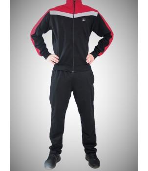 Трицветен мъжки спортен комплект без качулка - Български