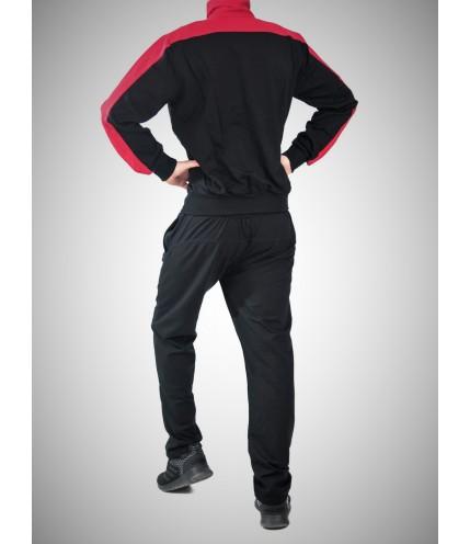 Трицветен мъжки спортен комплект без качулка гигант- Български