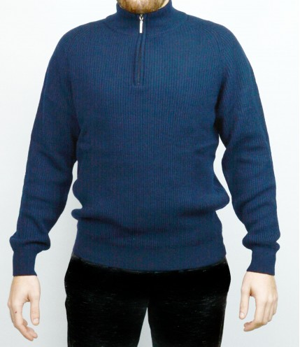 Мъжки пуловер с 1/2 цип Българско производство