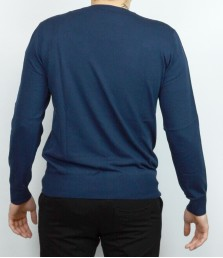 Мъжки пуловер с обло деколте Българско производство