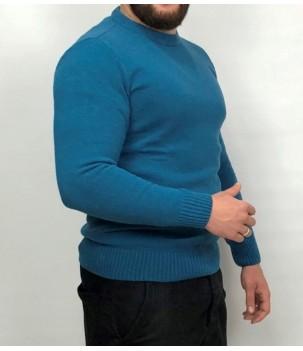 Мъжки вълнен пуловер дюс от агнешка вълна Българско производство