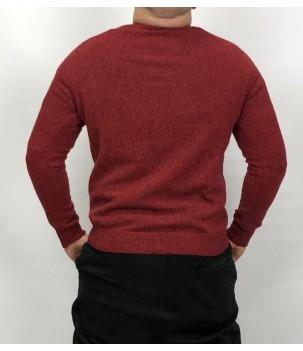 Мъжки вълнен пуловер меланж от агнешка вълна Българско производство