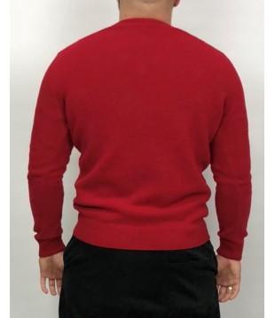 Мъжки вълнен пуловер дюс с остро деколте от агнешка вълна Българско производство