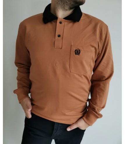 Спортна мъжка риза с дълъг ръкав