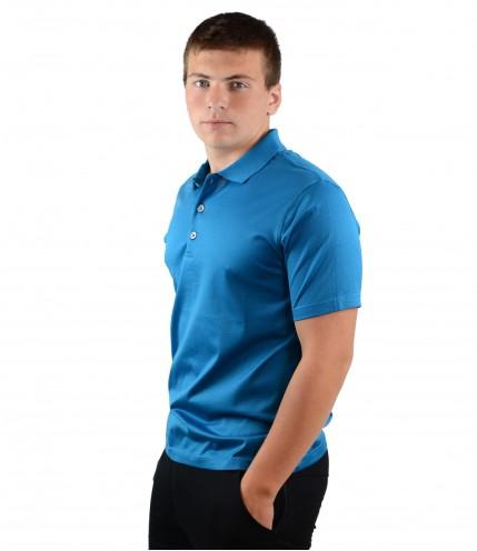 Мъжки тениски с къс ръкав с яка