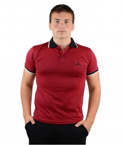 Мъжки тениски с къс ръкав с яка и джоб